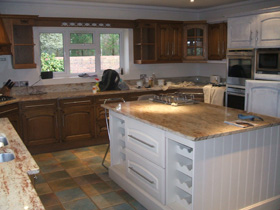 Hand Painting of kitchen units to renew kitchen Bournemouth, Poole and Christchurch